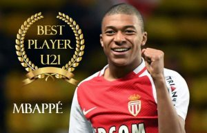 Mbappe awarded for best U21 player